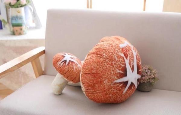 【40公分】仿真香菇娃娃 蘑菇玩偶 布偶 聖誕節交換禮物 生日禮物 餐廳店面擺設裝潢布置