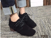 短靴個性流蘇繫帶粗跟方頭短靴女靴