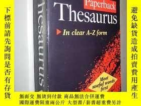 二手書博民逛書店Oxford罕見Paperback Thesaurus(in c