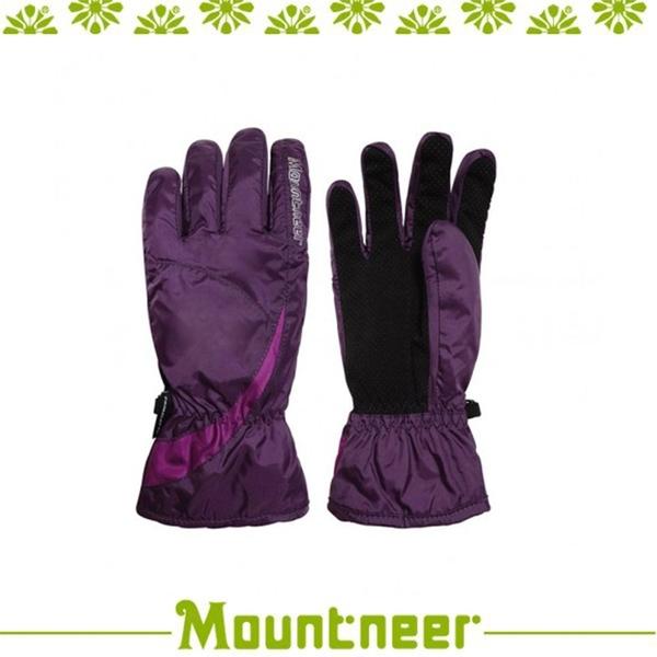 【Mountneer 山林 Primaloft防水手套《暗紫/亮紫》】12G02/保暖手套/騎車/登山