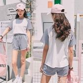 休閒運動套裝女夏新款韓版寬鬆短袖短褲學生跑步兩件套女 錢夫人小鋪