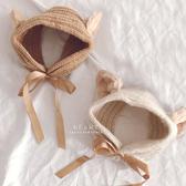 貓耳朵針織保暖耳罩 兒童配件 童帽