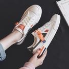 小白鞋女夏季薄款帆布鞋女2020新款運動板鞋女韓版ulzzang餅干鞋  【端午節特惠】