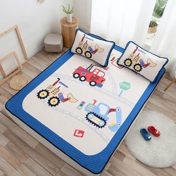 床包組 兒童卡通夏1.5/1.8m冰絲涼席可機洗空調軟席三件套