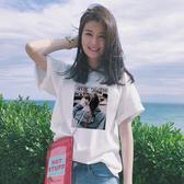 出清$188 韓國學院風時尚印花寬鬆T恤半袖短袖上衣