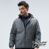 PolarStar 中性 鋪棉連帽保暖外套『灰綠』 P18217 戶外 休閒 登山 露營 保暖 禦寒 防風 鋪棉