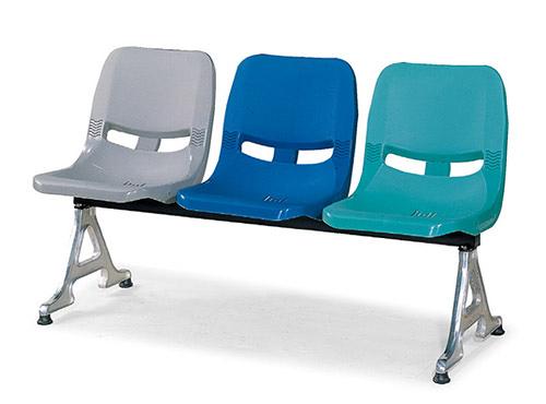 [ 家事達]台灣OA-668-11 PP 排椅(4人座) 特價--限送台中市/苗栗/彰化/南投縣市