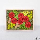 新年好禮 情人節玫瑰干花仿真花家居擺設現代簡約清新客廳臥室永生花禮盒裝