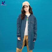 【早秋新品】American Bluedeer - 韓風圓領牛仔外套(魅力價) 秋冬新款