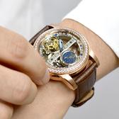 范倫鐵諾˙古柏 玫金鏤空機械錶NEV91