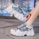 透氣網面老爹鞋子女潮年新款夏季女鞋百搭超火運動鞋 【快速出貨】