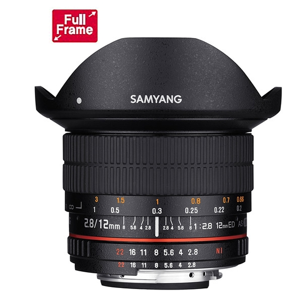 SAMYANG 三陽 12mm F2.8 ED AS NCS Fisheye 全幅 手動 魚眼鏡頭 SONY E / NIKON 【公司貨】