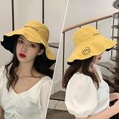 帽子 雙面漁夫帽女遮臉韓版防曬紫外線子大沿潮百搭夏季薄款時尚