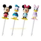 asdfkitty*日本TORUNE迪士尼米奇米妮唐老鴨黛西造型食物叉-4入-便當裝飾叉/宴會點心叉/水果叉