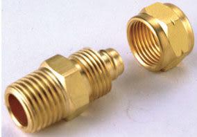 水電材料 風壓接頭 氣壓缸用 快速接頭 風用 SPC 1/8 PT外牙*6mm PU管