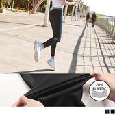 《KS0490》台灣製造.20%高彈力鬆緊條紋瑜伽運動褲 OrangeBear
