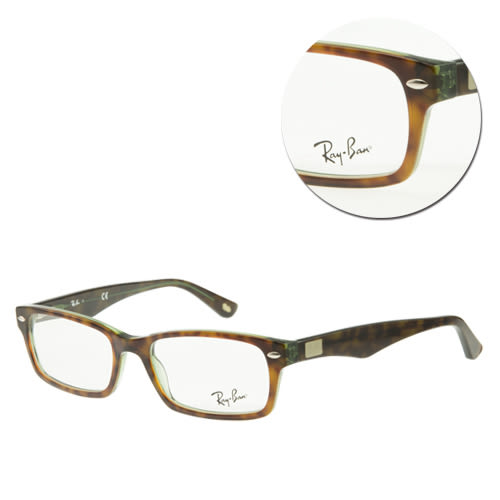 【Ray Ban】斯文長方框琥珀光學眼鏡(RB5206-2445 復古琥珀)