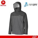 【Marmot 美國 男 Precip 防水透氣雨衣《深灰/灰》】412001452/風雨衣/防水/透氣