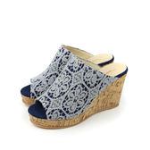 HUMAN PEACE MIT(台灣製) 拖鞋 藍色 女鞋 no516