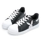 PLAYBOY 閃閃霓光貝殼小白鞋 -黑銀(Y7221)