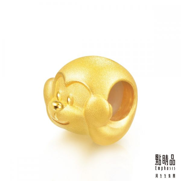 點睛品 Charme 非禮勿聽黃金猴 黃金串珠