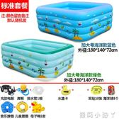 泳池新生嬰兒游家用充氣幼兒童寶寶洗澡桶加厚保溫游泳戲水池浴盆 igo 蘿莉小腳ㄚ