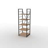 (組)特力屋萊特五層架黑框/淺木紋-40x40x128cm
