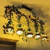 吊燈 胡桃裏植物美式復古主題餐廳花店酒吧清吧服裝店麻繩裝飾 現貨快出YJT