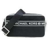 【南紡購物中心】MICHAEL KORS KENLY 尼龍橫槓雙拉鍊相機斜背包-黑