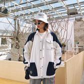 18春裝美式街頭bf風工裝外套中性帥氣簡約日系女裝外套chic上衣潮