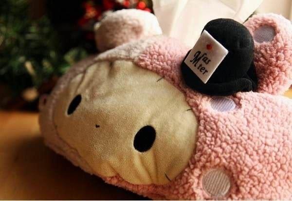 【發現。好貨】憂傷馬戲團 憂憂兔面紙套 毛絨娃娃面紙套 薄荷象