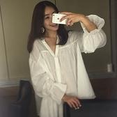 休閒長袖襯衫-時尚個性寬鬆有型女上衣73hs36[時尚巴黎]