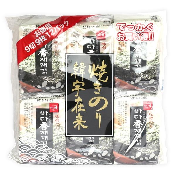 【韓宇在來】海苔超值包 原味(4.5gx12包) 純素