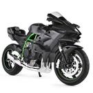 機車川崎h2r摩托車模型男生禮物玩具仿真生日合金兒童情人節收藏 快速出貨