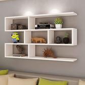 書架墻上置物架壁掛墻儲物櫃臥室墻面創意格子客廳掛櫃吊櫃墻壁櫃 igo卡洛琳