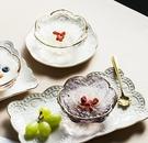 甜品碗 創意日式金邊櫻花玻璃碗 燕窩碗糖水銀耳湯碗盅雪糕沙拉碗甜品碗【快速出貨八折下殺】