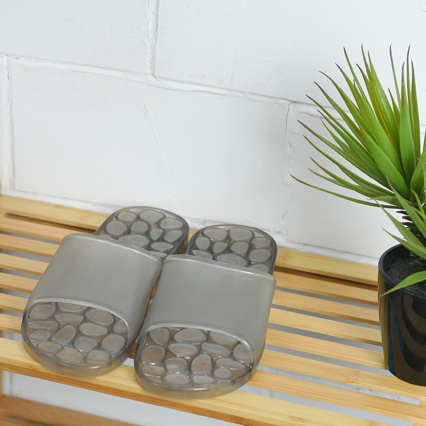 靚灰仿石浴室拖鞋-生活工場