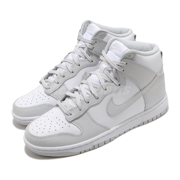 Nike Dunk Hi Retro Vast Grey 白 灰 男鞋 女鞋 復古 復刻經典款 高筒 休閒鞋 【ACS】 DD1399-100