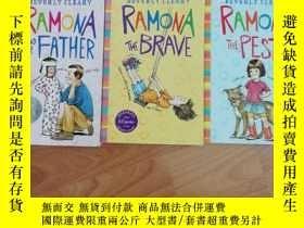 二手書博民逛書店英文原版罕見雷蒙娜系列3冊合售(Ramona the Pest,