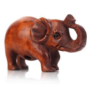 精雕黃楊木小象擺件富貴如意招財象家居裝飾品擺設