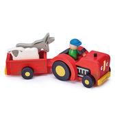【美國Tender Leaf Toys】拖拉車(小鎮交通遊戲組)