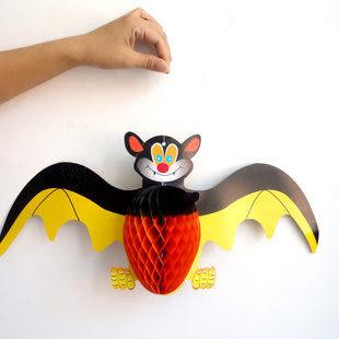 萬聖節裝飾道具 搞怪大蝙蝠吊飾45g二個價