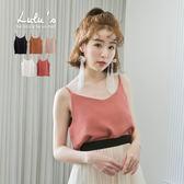 LULUS-P雪紡細肩上衣-肩帶可調-5色  現+預【01080538】