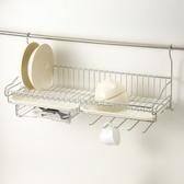 特力屋 不鏽鋼壁掛式單層碗盤架 附抽屜及5勾