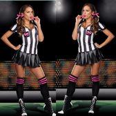 【雙11 大促】黑白條紋賽車服女郎啦啦隊女裁判服演出服