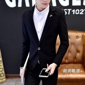 男士正韓西服男青年春夏季厚款小西裝潮流簡約上衣休閒修身型外套M-3XL