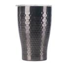 金時代書香咖啡 Tiamo 真空錘紋陶瓷杯 360ml 鈦黑 HE5165TBK