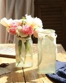 歐式創意玻璃花瓶水培植物富貴竹水養干花瓶滿天星插花瓶客廳擺件   koko時裝店
