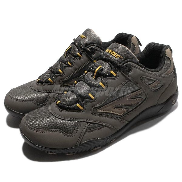 【六折特賣】 HI-TEC 健走鞋 Azul 灰 咖啡色 低筒 大地色系 多功能 戶外鞋款 男鞋 【PUMP306】 O005104041
