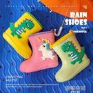 兒童雨鞋 寶寶雨鞋雨衣套裝兒童雨靴男童女童防滑膠鞋恐龍水靴小童幼兒水鞋